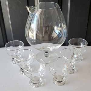 Vintage Brandy Snifter with Glasses